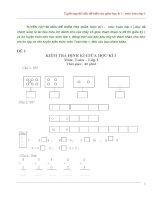 Tuyển tập 65 mẫu đề kiểm tra giữa học kì 1 – môn toán lớp 1