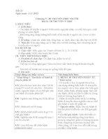 Tiết 24 Chương V: DI TRUYỀN HỌC NGƯỜI Bài 21. DI TRUYỀN Y HỌC