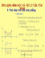 Ứng dụng toán học và vật lý của tích phân_Giáo án thi Giáo viên giỏi