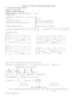 Tóm tắt các dạng toán 12 (thường gặp)