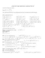 Bài tập phương trình chứa căn thức