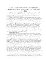 SKKN TĂNG CƯỜNG một số BIỆN PHÁP PHÒNG CHỐNG BỆNH DỊCH TRONG TRƯỜNG mầm NON