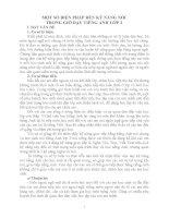 MỘT SỐ BIỆN PHÁP RÈN KỸ NĂNG NÓI TRONG GIỜ DẠY TIẾNG ANH LỚP 3