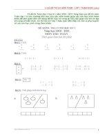 13 bộ đề THI HK1   môn TOÁN – lớp 1 () doc
