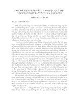 MỘT SỐ BIỆN PHÁP NÂNG CAO HIỆU QUẢ DẠY HỌC PHÂN MÔN LUYỆN TỪ VÀ CÂU LỚP 3