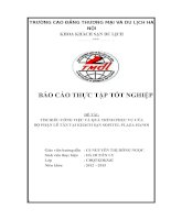 Tìm hiểu công việc quy trình và nghiệp vụ lễ tân trong khách sạn sofitel plaza