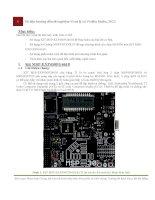 tài liệu hướng dẫn thí nghiệm vi xử lý và vi điều khiển, 2012