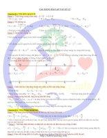 Các công thức giải nhanh vật lý ôn thi đại học (THPT quốc gia)