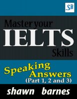 master your ielts skills speaking answers part 1 2 and 3