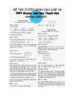 S.Tầm đề thi vào 10 chuyên Lam Sơn
