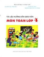 Tài liệu hướng dẫn giáo viên môn TOÁN lớp 4 THEO VNEN