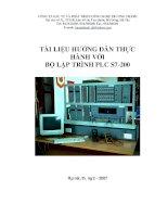 tài liệu hướng dẫn thực hành với bộ lập trình plc s7200 hành vӞi