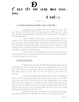 SKKN: Để dạy tốt thơ lãng mạn 1932– 1945 ở khối 11