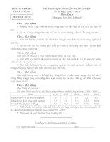 Đề thi HSG lớp 9 môn Địa lý huyện Vĩnh Tường năm 2013 - 2014