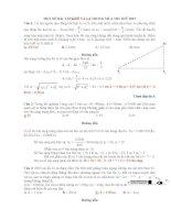 Một số bài tập vật lý khó và là trong mùa thi thử THPT quốc gia 2015