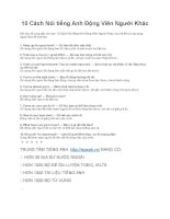 10 cách nói tiếng anh động viên người khác