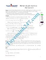 Bài tập vật lý chuyên đề_Hệ 2 vật gắn vào lò xo có lời giải chi tiết