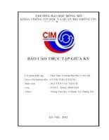 báo cáo thực tập quản trị hệ thống thông tin thư viện đại học y hà nội