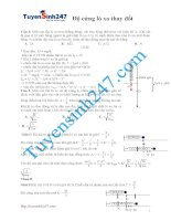 Bài tập vật lý chuyên đề: Độ cứng lò xo thay đổi có lời giải chi tiết