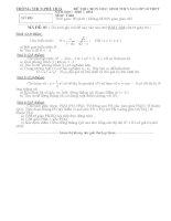DE(01) + Dap an thi thu vào lop 10