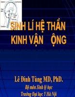 Bài giảng sinh lý hệ cơ xương khớp