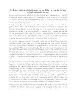 Vẻ đẹp ngôn từ, nghệ thuật trong truyện Kiều của Nguyễn Du thông qua một số đoạn trích đã học
