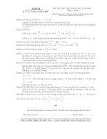 Đề thi thử môn toán kỳ thi THPT quốc gia   đề số 003