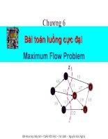 chương 6 bài toán luồng cực đại