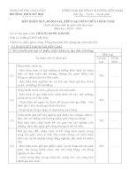 Bản nhận xét, đánh giá, xếp loại viên chức A4