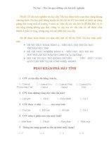 Bộ đề 125 câu trắc nghiệm tin học cấp Tiểu học