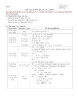 kế hoạch dạy học môn số học 6 vnen