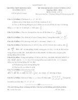 Đề thi thử THPT quốc gia môn toán lần 1 năm 2016 trường THPT khoái châu, hưng yên