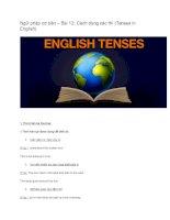 Ngữ pháp cơ bản – bài 12cách dùng các thì (tenses in english)