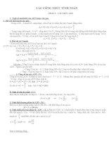 Hệ thống công thức giải bài tập sinh học 9 nâng cao