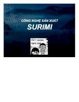 Đề tài công nghệ sản xuất surimi và các sản phẩm surimi