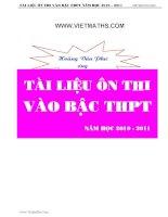200 BAI TAP ON THI LOP 10  NAM 2011( CO DAP AN)