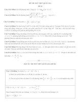 Bộ đề thi thử môn toán kỳ thi THPT quốc gia 2016 có giải chi tiết