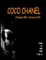 COCO CHANEL HISTORY   LỊCH sử của NHÃN HIỆU COCO CHANEL