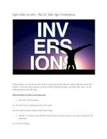 Ngữ pháp cơ bản – bài 22 đảo ngữ (inversions)