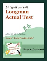 LỜI GIẢI CHI TIẾT LONGMAN ACTUAL TEST