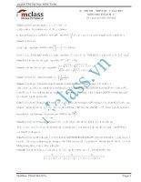 Đề thi thử môn toán số 15 MClass