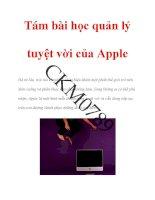 Tám bài học quản lý tuyệt vời của apple