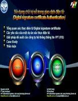 Bài giảng Sử dụng chữ ký số trong giao dịch điện tử (Digital signature certificate Authentication)