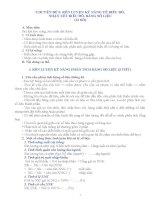 CHUYÊN ĐỀ 5: RÈN LUYỆN KỸ NĂNG VẼ BIỂU ĐỒ, NHẬN XÉT BIỂU ĐỒ, BẢNG SỐ LIỆU