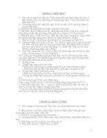Lý 9: Câu hỏi ôn tập ĐIỆN ĐIỆN TỪ vào THPT
