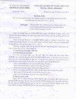 Thông báo tuyển sinh vào lớp 10 trường DTNT tỉnh Bình Phước