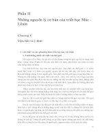 Phần II Những nguyên lý cơ bản của triết học Mác  Lênin