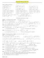 các bài toán liên quan đến phương trình vô tỉ