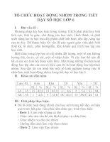 TỔ CHỨC HOẠT ĐỘNG NHÓM TRONG TIẾT DẠY SỐ HỌC LỚP 6