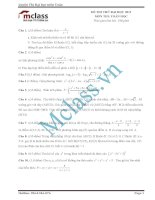 Đề thi thử môn toán số 12 MClass